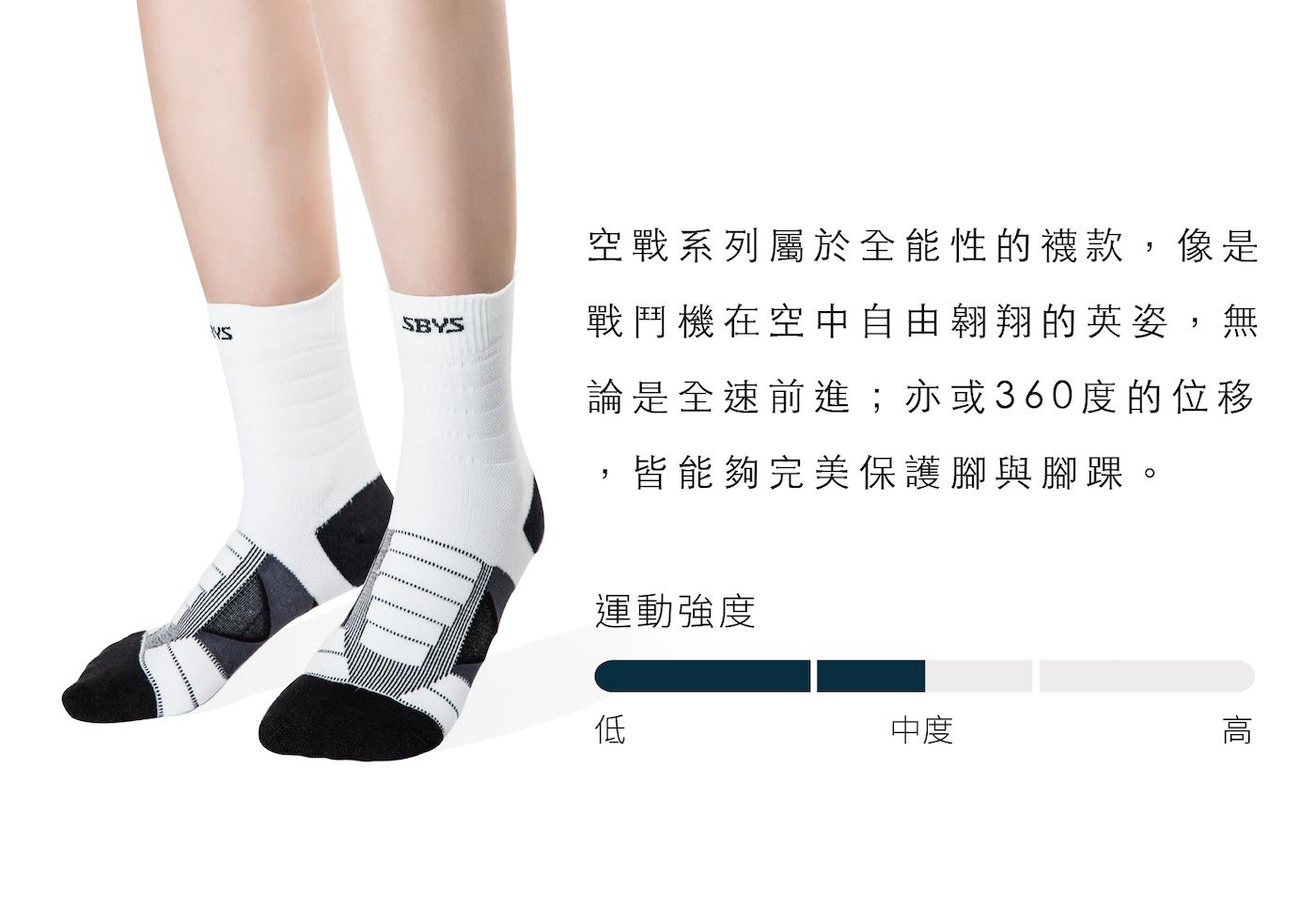 運動襪旗艦版,中高強度運動適用,全方位保護適合所有運動穿著